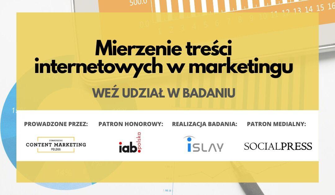 Jak mierzymy treści internetowe w marketingu – badanie branżowe 2021
